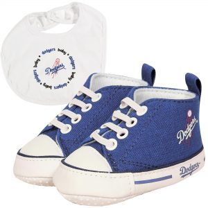 Los Angeles Dodgers Infant Bib & Prewalker Shoes Gift Set