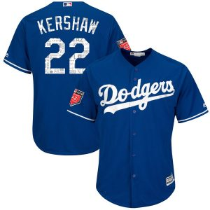 Men's Los Angeles Dodgers Clayton Kershaw Majestic Royal 2018 Spring Training Cool Base Player Jersey