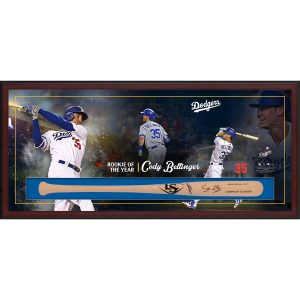 Cody Bellinger Los Angeles Dodgers Framed Autographed Rookie of the Year Bat Collage Shadowbox