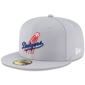 Los Angeles Dodgers New Era Cooperstown Collection Wool 59FIFTY Fitted Hat – Gray