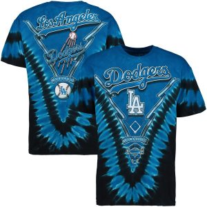 Los Angeles Dodgers Royal Blue Tie-Dye T-Shirt