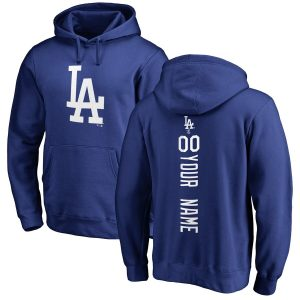 Los Angeles Dodgers Royal Personalized Backer Pullover Hoodie