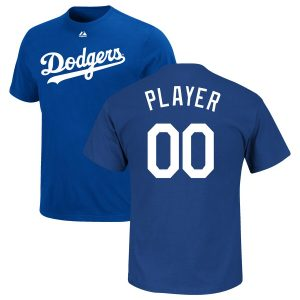 Majestic Los Angeles Dodgers Royal Custom Roster Name & Number T-Shirt
