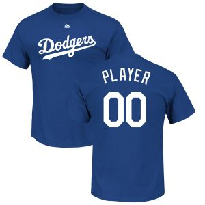Majestic Los Angeles Dodgers Youth Royal Custom Roster Name & Number T-Shirt