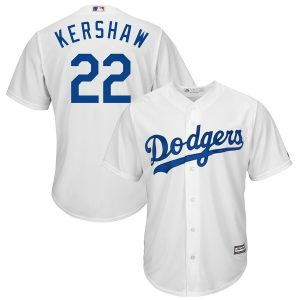 Men's Los Angeles Dodgers Clayton Kershaw Majestic White Home Cool Base Player Jersey