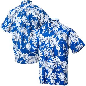 Reyn Spooner Los Angeles Dodgers Royal Aloha Button-Up Shirt