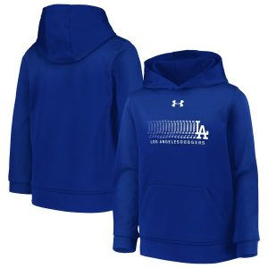 Under Armour Los Angeles Dodgers Royal Armour Fleece Pullover Hoodie