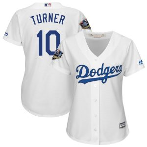 Justin Turner Los Angeles Dodgers Majestic Women's 2018 World Series Cool Base Player Jersey – White