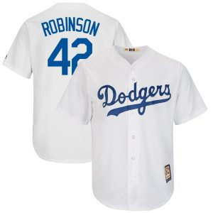 Jackie Robinson Los Angeles Dodgers Majestic Big & Tall Cooperstown Cool Base Player Jersey – White