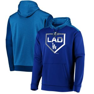 Los Angeles Dodgers Majestic 2019 Postseason Dugout Authentic Pullover Hoodie – Royal