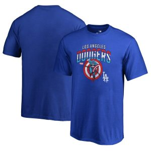 Los Angeles Dodgers Fanatics Branded Youth MLB Marvel Captain's Shield T-Shirt – Royal