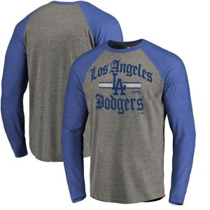 Los Angeles Dodgers Fanatics Branded Hometown Collection Olde LA Long Sleeve T-Shirt – Ash