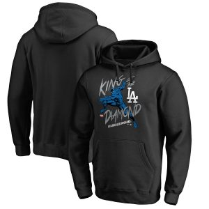 Los Angeles Dodgers Fanatics Branded MLB Marvel Black Panther King of the Diamond Pullover Hoodie – Black