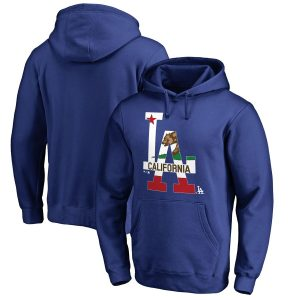 Los Angeles Dodgers Fanatics Branded Hometown Collection Cali Flag Pullover Hoodie – Royal