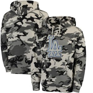 Los Angeles Dodgers Stitches Pullover Hoodie – Black/Camo