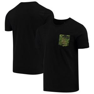Los Angeles Dodgers New Era Armed Special Forces Camo Pocket T-Shirt – Black