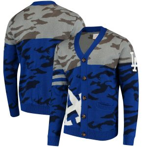 Los Angeles Dodgers Camouflage Cardigan Sweater – Royal
