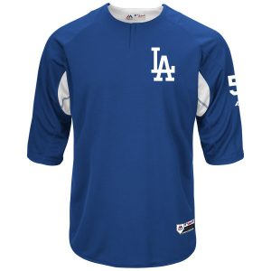 Corey Seager Los Angeles Dodgers Majestic Authentic Collection On-Field 3/4-Sleeve Player Batting Practice Jersey – Royal/White