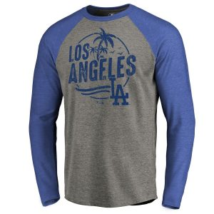 Los Angeles Dodgers Fanatics Branded Hometown Collection LA Palms Long Sleeve T-Shirt – Ash