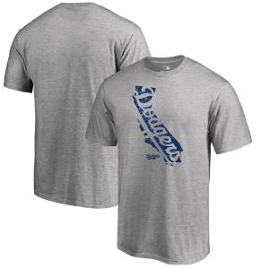 Los Angeles Dodgers Fanatics Branded Knockout State Hometown T-Shirt – Heathered Gray