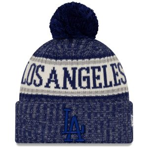 Los Angeles Dodgers New Era Primary Logo Sport Cuffed Knit Hat with Pom – Royal