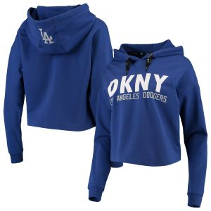 Los Angeles Dodgers DKNY Sport Women's The Maddie Pullover Hoodie – Royal