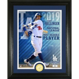 "Cody Bellinger Los Angeles Dodgers Highland Mint 2019 NL MVP 13"" x 16"" Bronze Coin Photo Mint"
