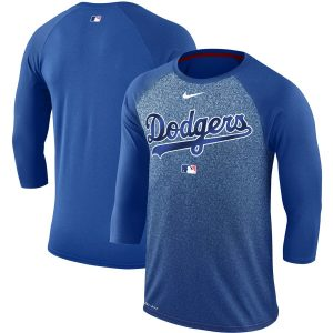 Los Angeles Dodgers Nike Authentic Collection Legend 3/4-Sleeve Raglan Performance T-Shirt – Royal