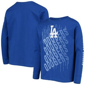 Los Angeles Dodgers Youth Royal Score Long Sleeve T-Shirt