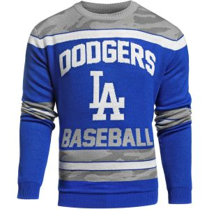 Los Angeles Dodgers Camouflage Team Sweater – Royal