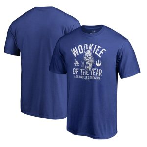 Los Angeles Dodgers Fanatics Branded Star Wars Wookiee Of The Year T-Shirt – Royal