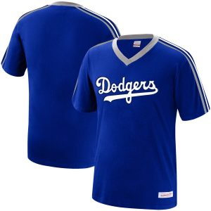 Los Angeles Dodgers Mitchell & Ness Big & Tall Overtime Win Wordmark V-Neck T-Shirt – Royal