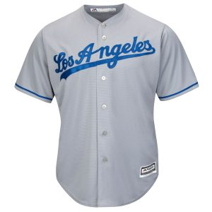 Los Angeles Dodgers Majestic Road Cool Base Jersey – Gray