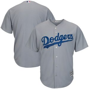 Los Angeles Dodgers Majestic Official Cool Base Jersey – Gray