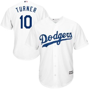 Justin Turner Los Angeles Dodgers Majestic Official Cool Base Player Jersey – White