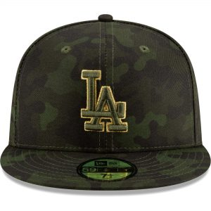 Los Angeles Dodgers New Era 2019 MLB Armed Forces Day On-Field 59FIFTY Fitted Hat – Camo