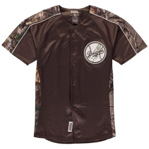 Los Angeles Dodgers Stitches Youth Replica Jersey – Realtree Camo