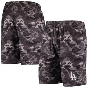 Los Angeles Dodgers Camo Training Shorts – Charcoal