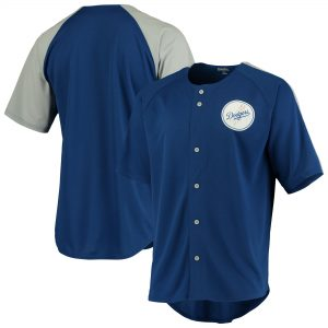 Los Angeles Dodgers Stitches Logo Button-Up Jersey – Royal