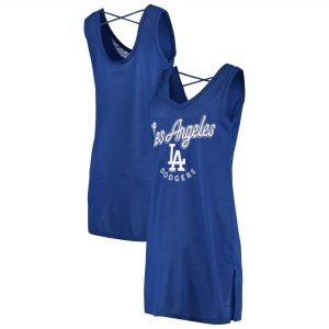Los Angeles Dodgers G-III 4Her by Carl Banks Women's Beach Cover-Up Dress – Royal