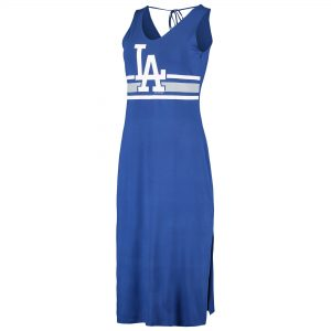 Los Angeles Dodgers G-III 4Her by Carl Banks Women's Opening Day Maxi Dress – Royal/Gray