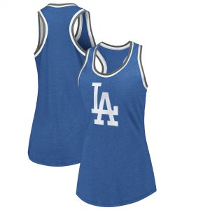 Los Angeles Dodgers Fanatics Branded Women's True Classics Double-Bound Scoop Neck Tank Top – Royal