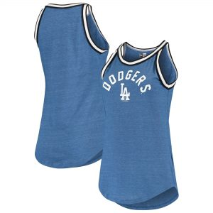 Los Angeles Dodgers New Era Women's Tri-Blend Raw Edge Jersey Tank Top – Heathered Royal