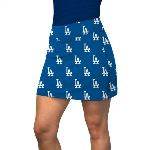 Los Angeles Dodgers Loudmouth Women's Pocket Active Skort – Royal/White