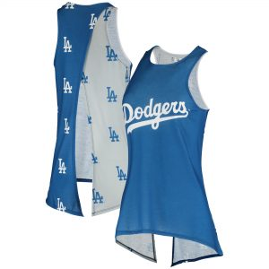Los Angeles Dodgers Women's Repeat Logo Tie-Back Racerback Tank Top – Royal