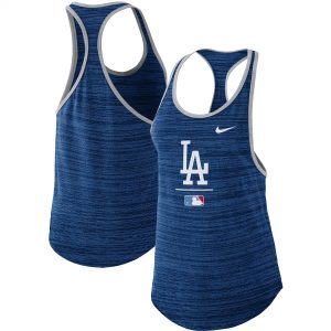 Los Angeles Dodgers Nike Women's Authentic Collection Velocity Team Issue Racerback Tank Top – Royal