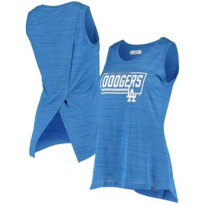 Los Angeles Dodgers Levelwear Women's Freedom Boxed-In Tank Top – Heathered Royal